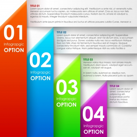 Paper infographics options banner.