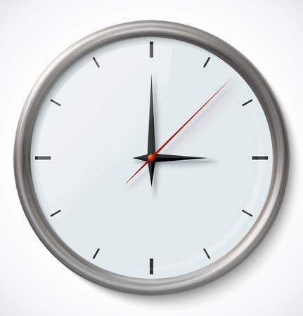 orologio da parete: Orologio icona Vettoriali