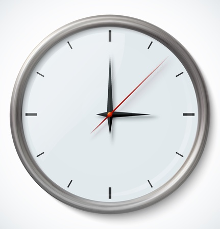 reloj de pared: Reloj ic�nico Vectores