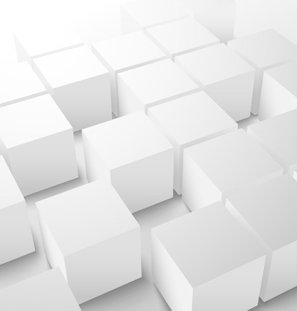 Abstract 3D cube geometric background  Vector illustration