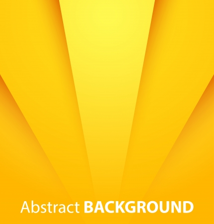Abstract yellow paper background with shadow. Vector illustration