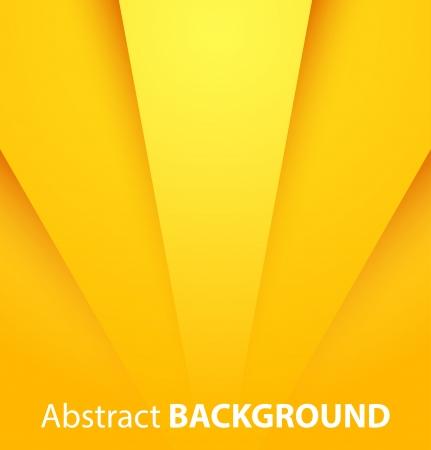 Zusammenfassung gelben Papier Hintergrund mit Schatten. Vektor-Illustration Standard-Bild - 24231384