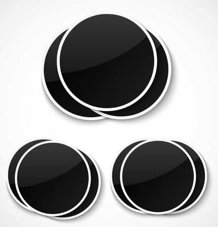 old photograph: Empty round photo frames on white background. Vector illustration