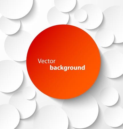 Red Papier Kreis Banner mit Schlagschatten auf weißem abstrakten Hintergrund. Vektor-Illustration Standard-Bild - 24231388