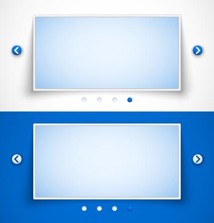 sliders: Set of web image sliders  Vector illustration