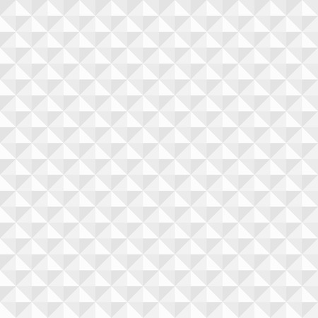 White geometric square seamless background  Vector illustration Vectores