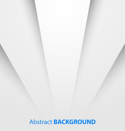 Abstract white paper background with shadow  Vector illustration  Vectores