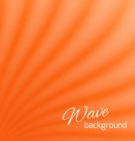 Orange abstract smooth light lines background  Vector illustraton Vector