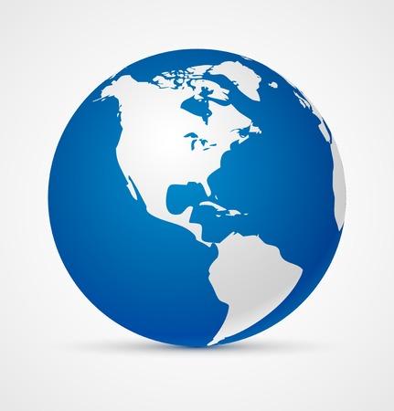 realist: Globe of the world icon  Vector illustration Illustration