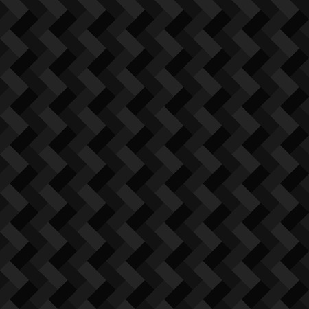 Black geometric rectangle seamless background  Vector illustration Vector