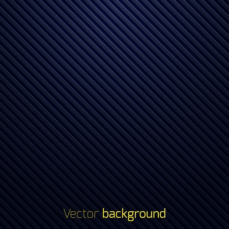 Abstract dark blue striped background  Vector illustration Иллюстрация