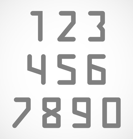 Abstract digital geometric numbers set  Vector illustration Vector