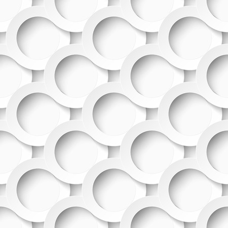 Seamles pattern of white circles with drop shadows. Vector illustration