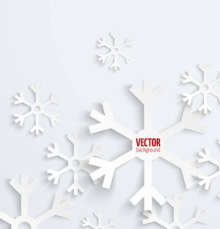 snow flake: Abstract christmas snowflake paper 3D backbround. Vector illustration Illustration