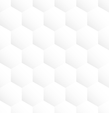 White hexagon abstract seamless pattern background. Vector illustration