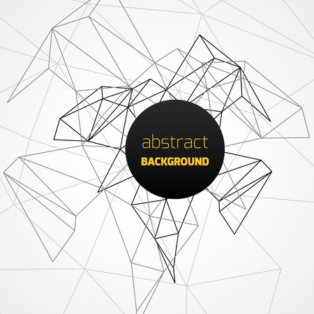 Geometrical background with black lines and circle banner. Vector illustration Vector