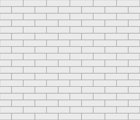 Abstract seamless white flat brick wall. Vector illustration Vector