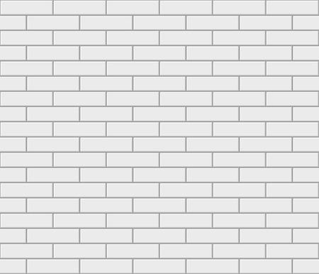 Abstract seamless white flat brick wall. Vector illustration