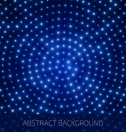 Abstract blue background with glowing dots.  Vector