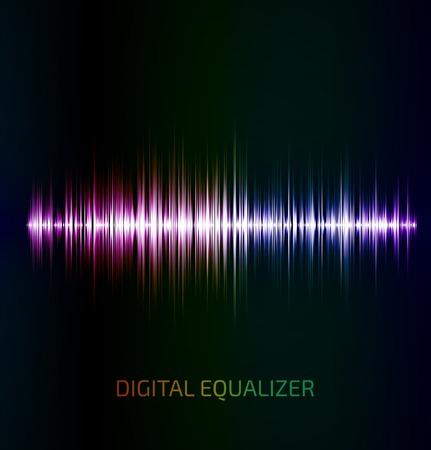 Abstract colorful égaliseur de musique sur fond noir