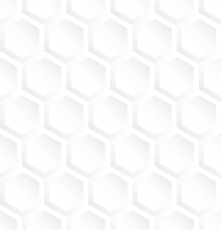 White hexagon abstract seamless pattern background.