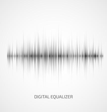 Abstract gray music equalizer on white background. Vector illustration Vectores