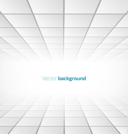 espaço: Fundo de azulejos brancos abstrato com uma perspectiva. Ilustra��o do vetor