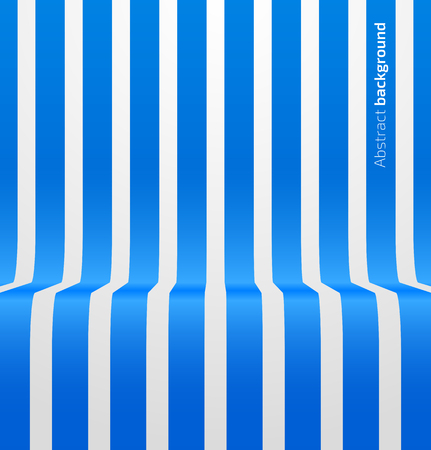 striped band: Abstract blue striped perspective background. Vector illustration