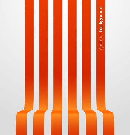 striped band: Abstract red striped perspective background. Vector illustration