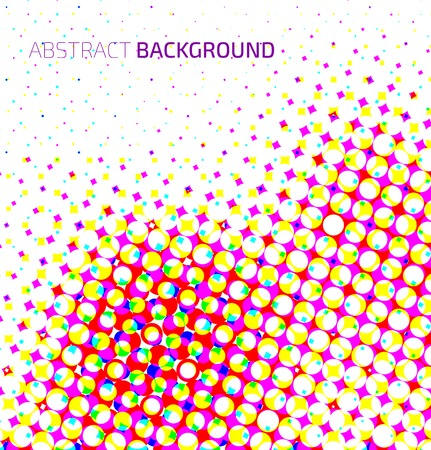 digital printing: Abstract light colorful halftone background. Vector background