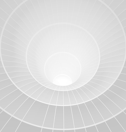 grey backgrounds: Abstract 3d white spiral tunnel. Vector illustration Illustration