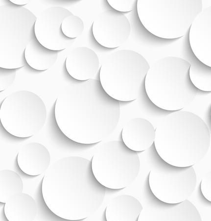 Nahtlose Muster aus weißen Kreisen mit Schlagschatten. Vektor-Illustration Standard-Bild - 38703685
