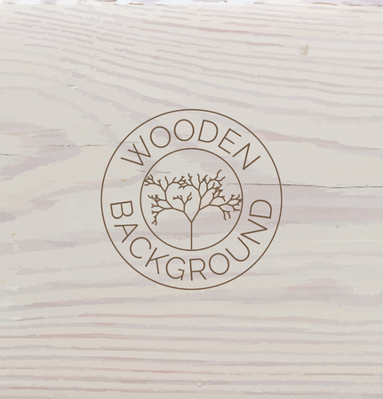 White wood texture background close up. Vector background