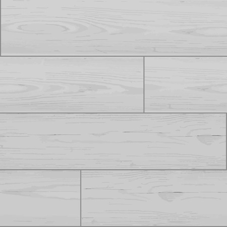 Seamless wooden texture background of old white lining boards. Vector illustration Vector
