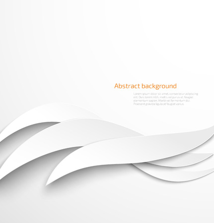 smooth shadow: Abstract white waves background with drop shadow. Vector illustration