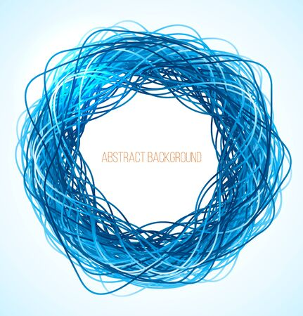 absract: Absract blue circle background with lines. Vector illustration