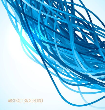 endlessly: Absract blue background with lines. Vector illustration