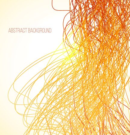 absract: Absract orange bright background with lines. Vector illustration Illustration