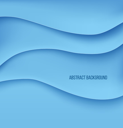 Abstract blue paper layers background shadow. Vector illustration