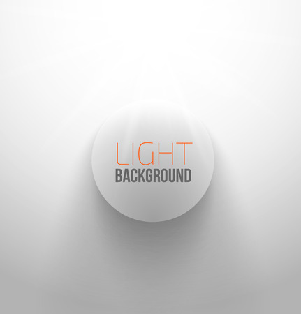 White circle button with light and shadow. Vector illustration Vector