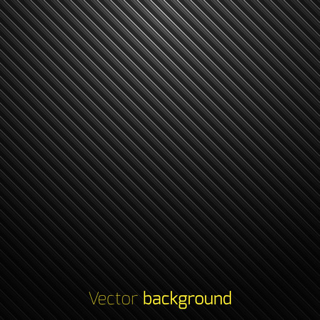 Abstract black striped techno background. Vector illustration