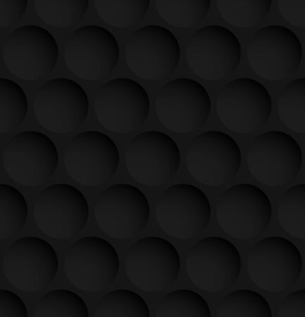 Black circle abstract seamless pattern background. Vector illustration