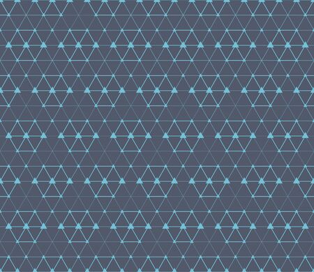 Abstract blue triangle connection concept seamless background. Vector illustration