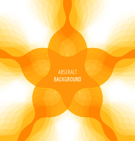 Abstract orange background with banner. Vector illustration Vectores