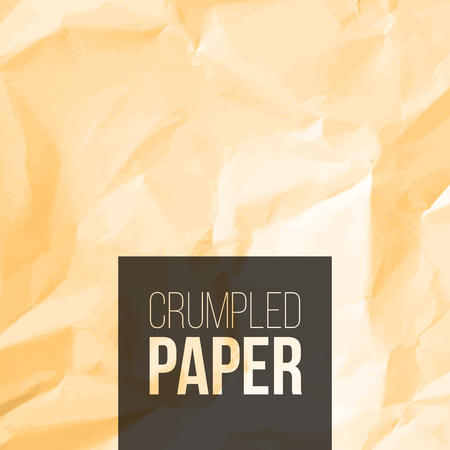 Texture of rough crumpled paper background. Vector illustration
