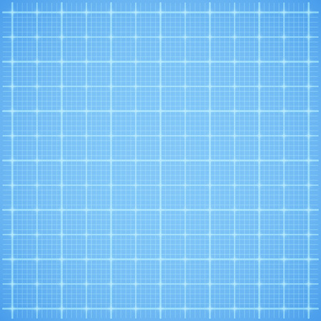 Blue square grid paper background. Vector illustration