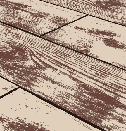 Abstract brown grunge wood texture in perspective. Vector illustration
