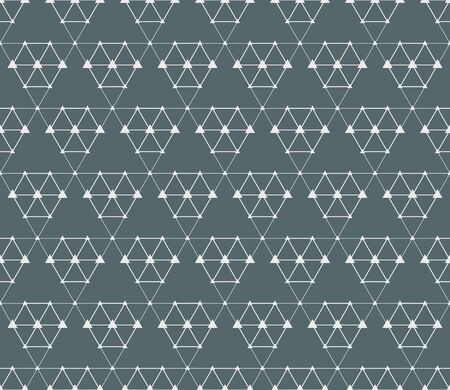 Abstract triangle connection concept seamless background. Vector illustration Vectores