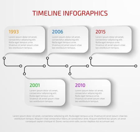 modello di progettazione infografica cronologia moderna con ombra.