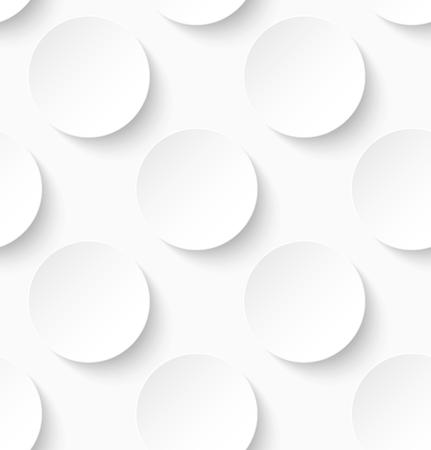 Fondo de patrón de círculo transparente de papel blanco. Ilustración del vector Foto de archivo - 48191807